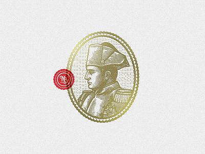 Napoleon Emblem emblem illustration retro vintage emperor napoleon bonaparte