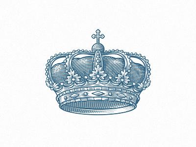 Crown Illustration crown etching vintage royal illustration king retro