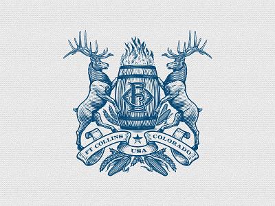 OE Crest bourbon monogram vintage crest spirit