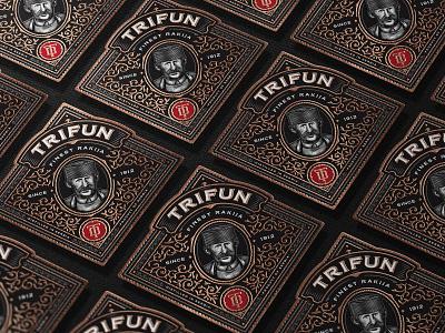 Trifun Close Up Labels brandy spirits packaging packaging design illustration whiskey craft distilling bourbon