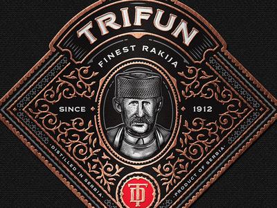 Trifun Brandy Label
