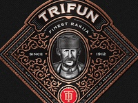 Trifun Brandy Label