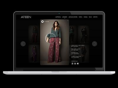Ateen Website Design showcase clothes selection desktop ateen collection fashion webdesign