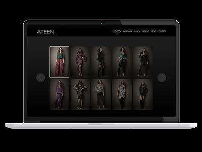 Ateen Website desktop ateen collection fashion webdesign