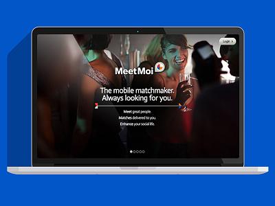 Meetmoi - Website Series desktop login splashpage meetmoi webdesign