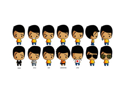 BB Characters Variations animation character illustrations