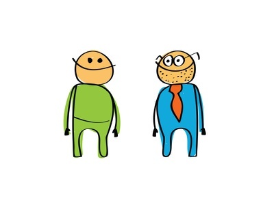 Voter and candidate, face to face. politics politicians character illustration