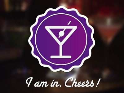 Thanks Alessandro! debut cheers drink badge