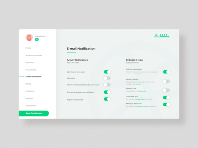 DailyUI #007 - Settings
