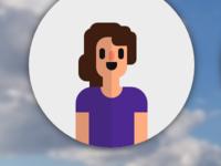 Pure CSS flat design human - female