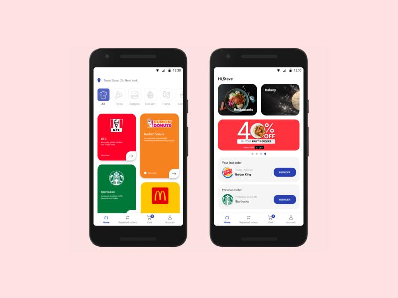 Food delivery app food app delivery app mobile design app design ux design ui design