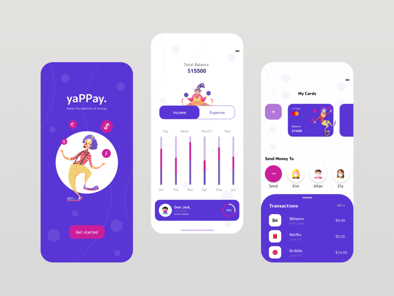Yappay app design mobile app ux design ui design currency crypto wallet finance