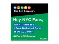 #UConn6thBorough Social Media