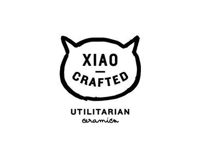 Xiao Crafted // Cat Outtake black and white logo logo ceramics cat logo