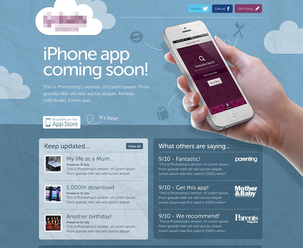 Babyapp homepage