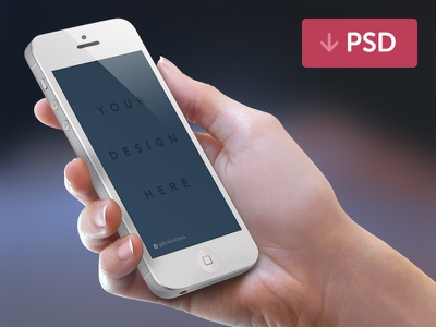 Free iPhone Mockup PSD White layers psd free photoshop hand iphone phone angle white holding mockup freebie download template