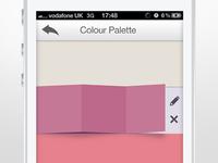 Colour Palette Slide iOS App