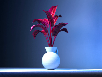 Which size vase do you need? leaves blue plants c4d animation pottery morphing vase plant illustration cgi 3d cinema 4d motion