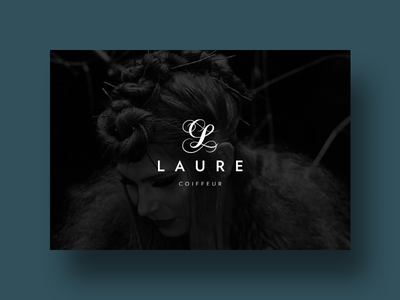 Laure Hairstyling Salon luxury logo identity hairstylist branding