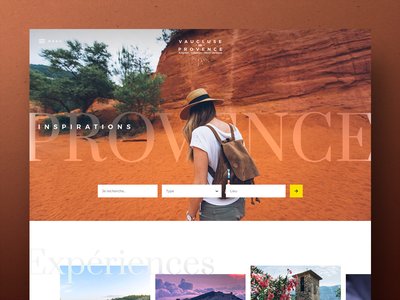 Vaucluse en Provence art direction webdesign