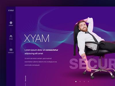 Xyam art direction webdesign