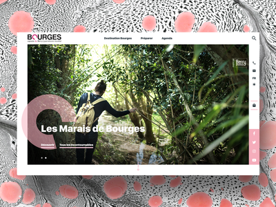Bourges Berry Tourisme web design ui art direction webdesign