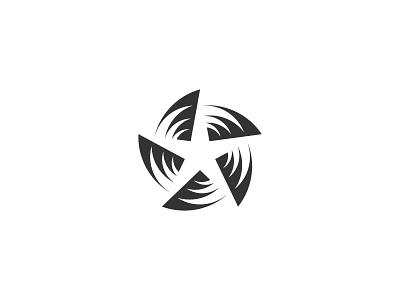 Star type flat vector typography logotype identity branding brand symbol icon logo design logo
