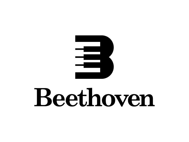 Beethoven Logo type flat vector typography logotype identity branding brand symbol icon logo design logo