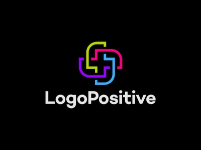 Logo Positive type flat vector typography logotype identity branding brand symbol icon logo design logo