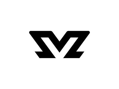 MV Monogram type flat vector typography logotype identity branding brand symbol icon logo design logo