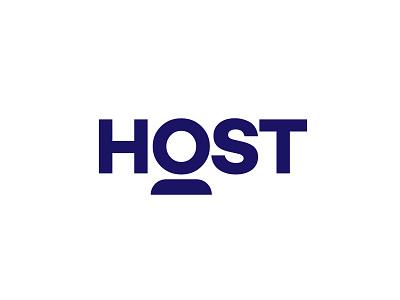 Host type flat vector typography logotype identity branding brand symbol icon logo design logo