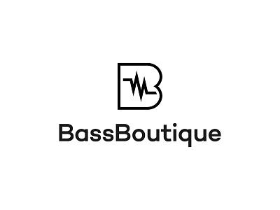 Bass Boutique type flat vector typography logotype identity branding brand symbol icon logo design logo