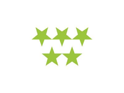 M + Stars type flat vector typography logotype identity branding brand symbol icon logo design logo