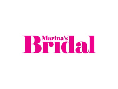Marinas Bridal marriage boutique wedding bridal symbol vector design typography flat pink identity type logotype brand logo logo design branding