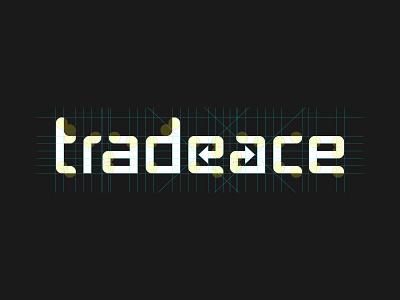 Trade Ace Grid blue design brand grid flat type vector identity logotype typography logo logo design branding