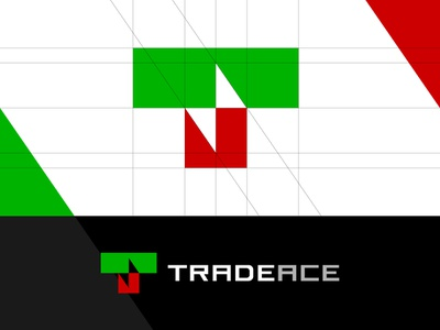 Trade Ace Logo crypto trading crypto tools platform software strategy fintech financial technology markets money financial finance forex cryptocurrency trading trade type identity logo design logo