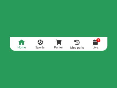 Navbar mobile - Betting