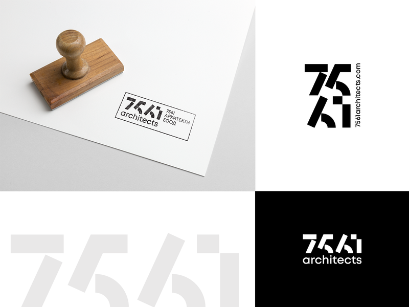 7561 architects studios fourplus bulgaria ivaylo nedkov geometry numbers stamp studio architecture architect logo logotype