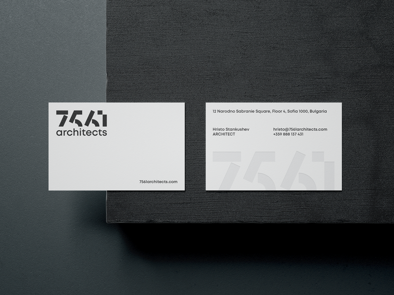 7561 business cards logo design typography four plus ivaylo nedkov stone minimalism logodesign identity branding print business cards logotype lettering logo lettering
