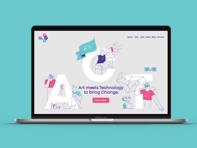 ACT Labs  home page ivaylo nedkov bulgaria four change drone vr robot technology flag spraycan activism social identity branding logo typoraphy illustration web design home page web