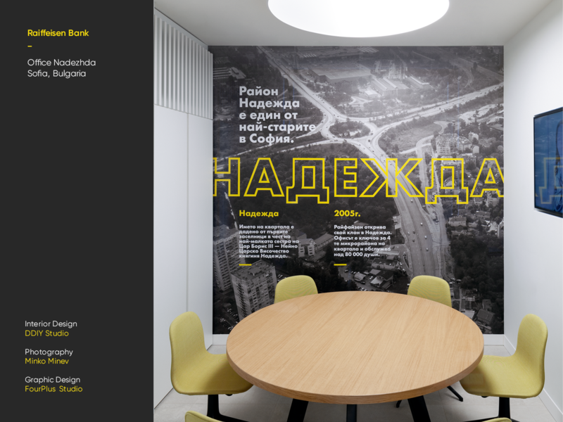 Raiffeisen Bank - Office Nadezhda ivaylo nedkov space office interior bank bulgaria sofia drone photography type typography graphic design interiordesign