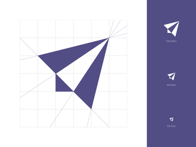 launchlabs icon cosntruction evolve trace fly logo mark branding redesign bulgaria fourplus ivaylo nedkov square favicon grid construction lab launch rocket paperplane symbol icon logo design