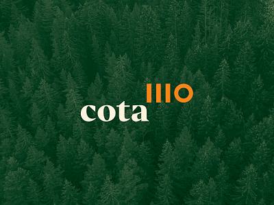 cota1110 ivaylo nedkov fourplus numbers custom numbers cota bulgaria pine woods hotel remote work work nature logo design logotype logo