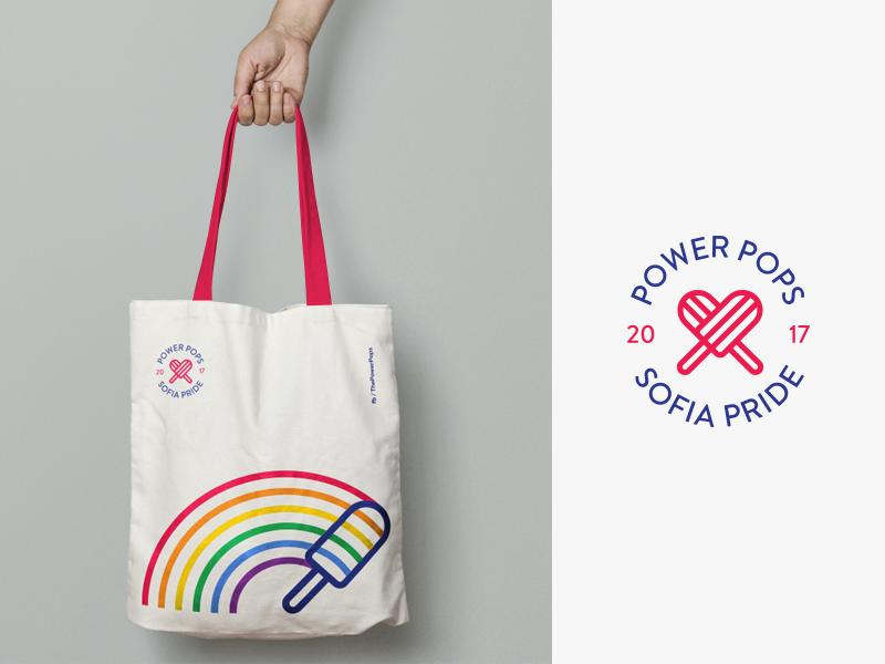 PP -  Sofia Pride bags bulgaria fourplus studio identity branding ivaylo nedkov love rainbow pride print tote bag popsicles power