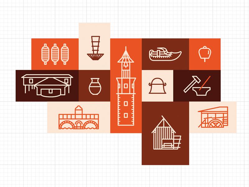 Etar Iconography studio four plus ivaylo nedkov bulgaria museum ethnography graphic illustration icon