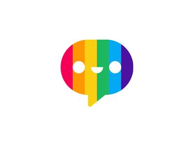 Pride pal bulgaria ivaylo nedkov fourplus emoticon emoji emotions message rainbow logo icon pride pal