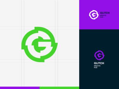 Glitch identity branding four plus symbol icon bulgaria sofia hub esports glitch mark logo ivaylo nedkov