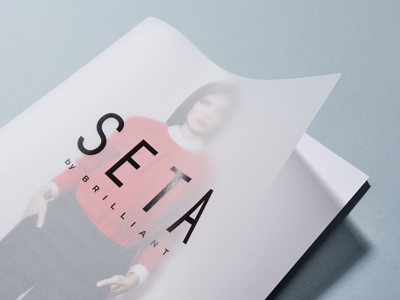 SETA - Catalog Cover bulgaria ivaylo nedkov print design catalog cover typography tracing paper transparent