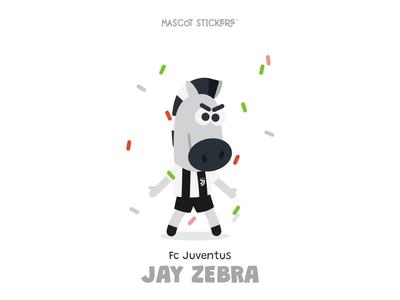 Mascot Stickers - Jay Zebra