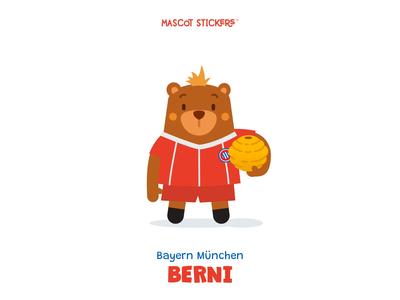 Mascot Stickers - Berni